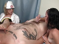 Nurse Handjob: Feet in the face
