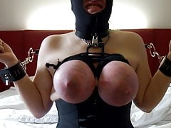 Session december 2016: breasts bound and punished