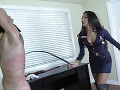 Very Hot Asian Mistress Whipping gagged slave