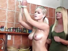 Miela - sexy topless whipping