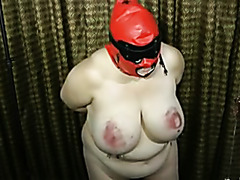 The slut BBW slogger breaking her needle cherry