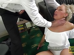 Blonde milf Nova Shields gets all of her love holes impaled