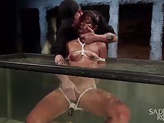 Water Torment in Strict Bondage with Squirting Orgasms