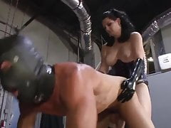 Strapon torture with big tits mistress