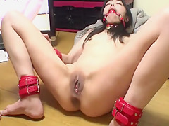Asian skinny slave fisting 2