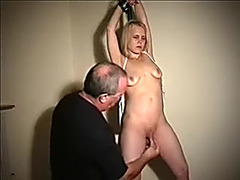 Horny golden-haired hotty with petite pantoons can't live out of BDSM sex on cam