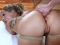 HD BDSM video - blonde slut enjoys assfucking in doggystyle