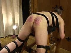 Mistress in latex punishes hubby