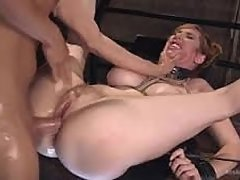 Punished wife gets hard anal sex - family BDSM video