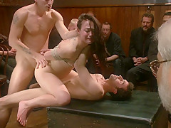 Rough gangbang in Public - top sadomaso videos